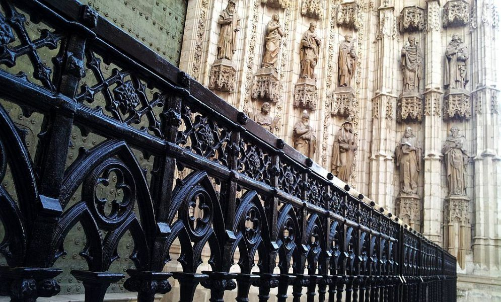 Cathedral gate seville spain